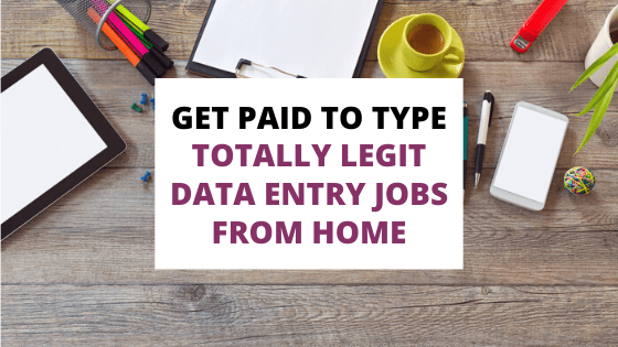 get paid to type with data entry jobs
