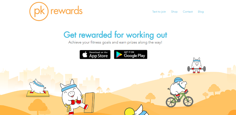 pk rewards walking app