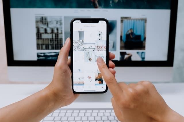 scrolling social media as a Pinterest virtual assistant