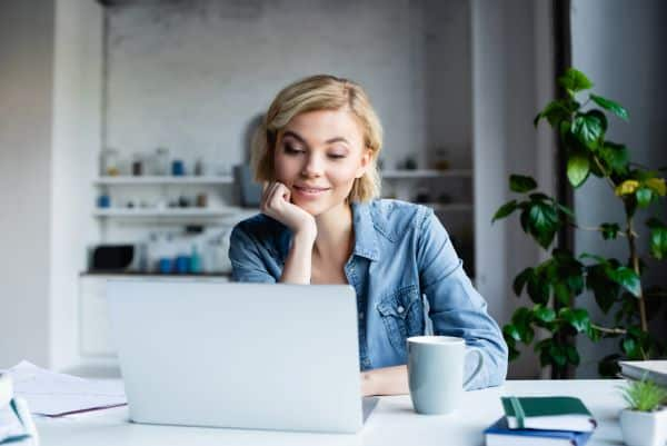 woman working on computer focus groups