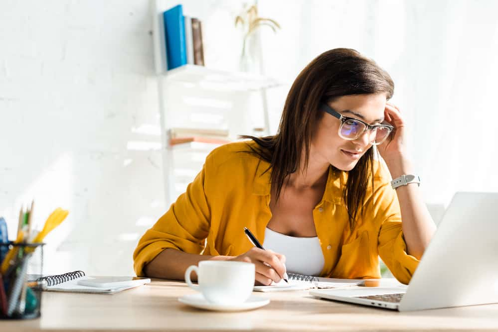 female virtual assistant working from home